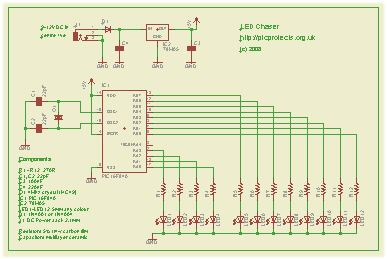 schematic  Led Chaser Circuit Diagram on led driver circuit, astable multivibrator circuit diagram, led cube schematic diagram, car battery charger circuit diagram, led circuit design, led diode circuit, strobe light circuit diagram, led circuit game, ir detector circuit diagram, rain detector circuit diagram,