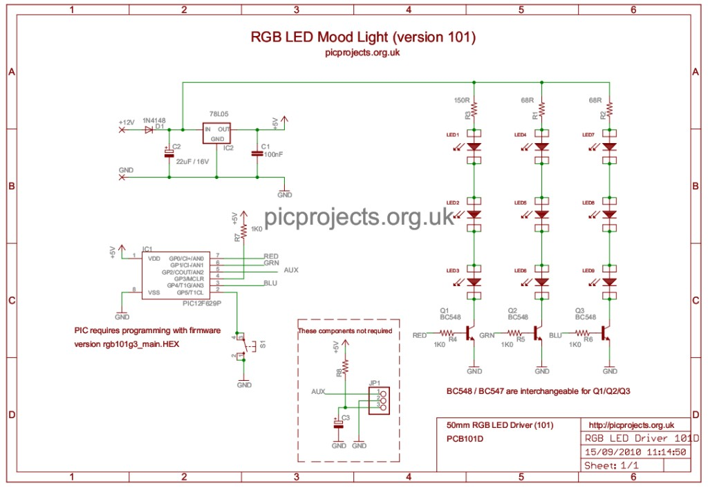 Rgb Led Mood Light Driver