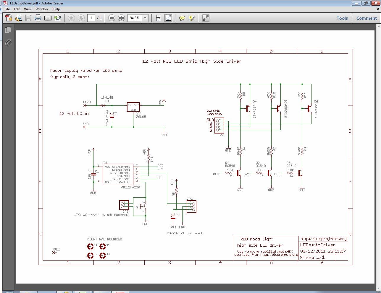 rgb led strip controller. Black Bedroom Furniture Sets. Home Design Ideas