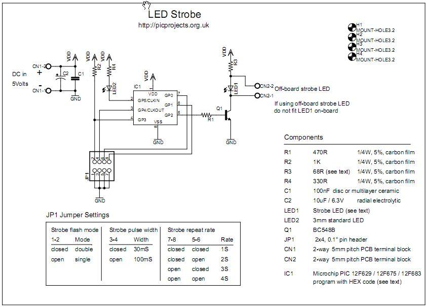 strobe light schematic led    strobe     led    strobe
