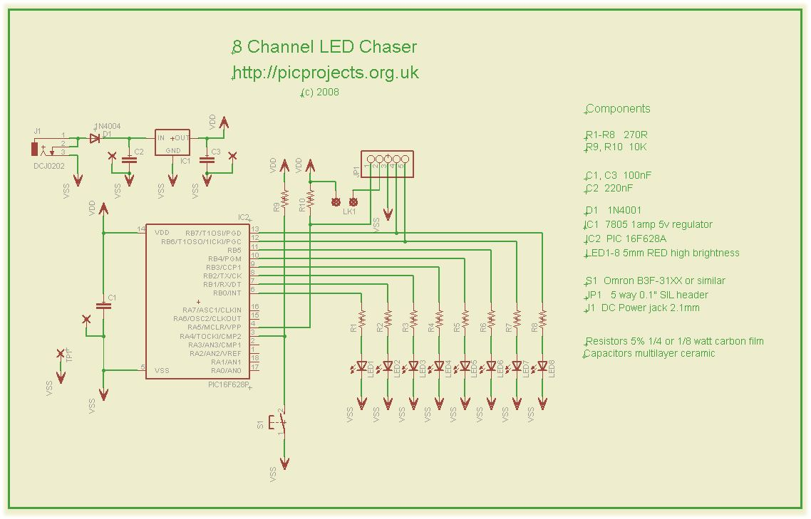 8 Channel PWM LED chaser